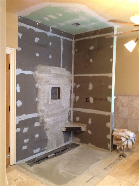 wedi shower system master renovation project pinterest
