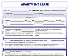 free apartment lease template doc 12751650 printable lease agreement simple rental