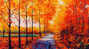 Painting Work autumn paintings wallpaper