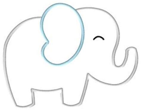 baby elephant template free elephant applique pattern big elephant applique by