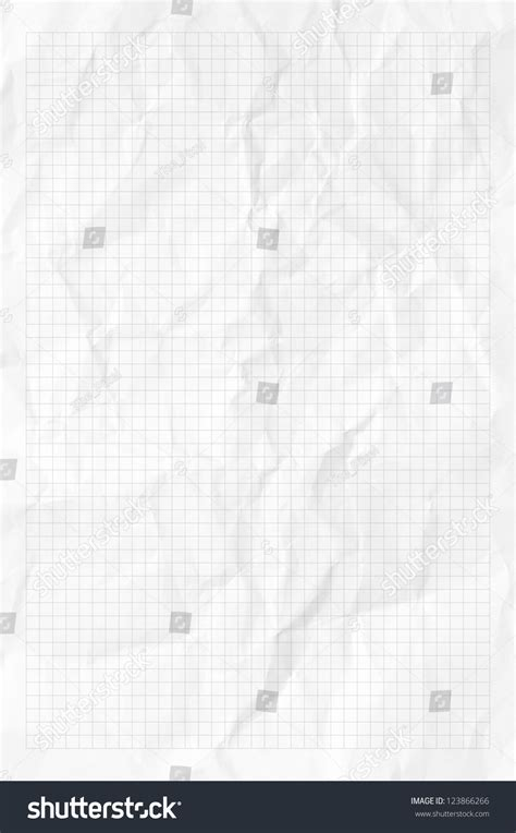 Handmade Chart Paper - handmade white graph grid scale crumpled stock