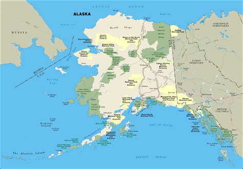 map of usa with alaska large national parks map of alaska state alaska state