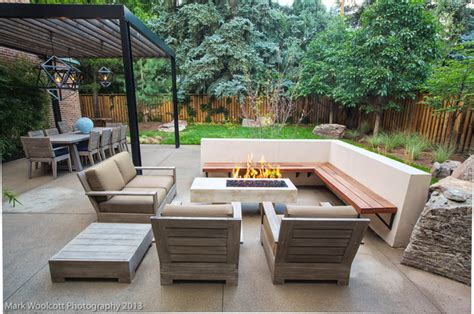 Concrete Patio Bench Mid Century Modern Renovation Contemporary Patio