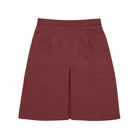 buy school inverted pleat skirt maroon lewis