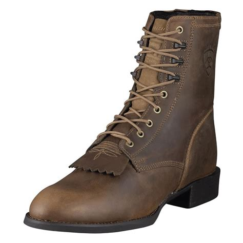 mens ariat western boots ariat mens heritage lace up roper cowboy boot lacer