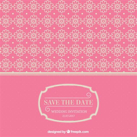 Wedding Card Ornaments by Pink Wedding Card With Ornaments Vector Free