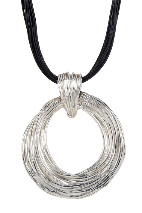 leather cord for jewelry sterling silver pendant leather cord necklace nordstrom rack
