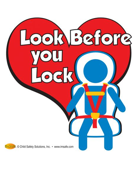 2 5104 look before you lock window cling i m safe