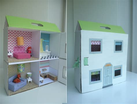 homemade doll house 13 cardboard dollhouse plans guide patterns