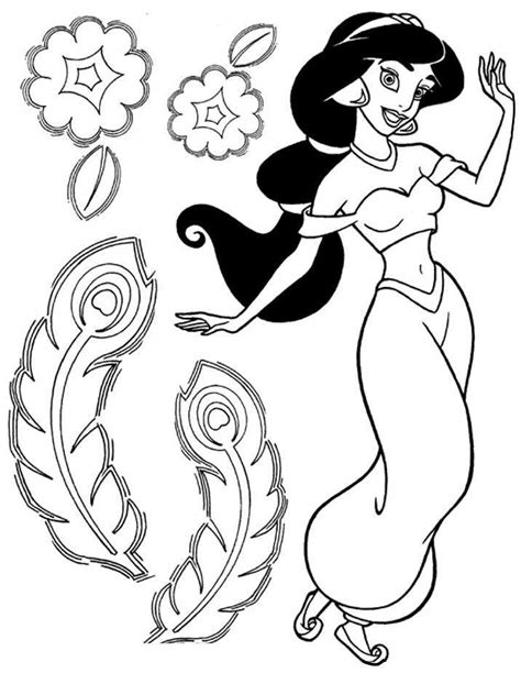 disney jasmine disney princess jasmine coloring pages