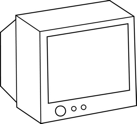 simple television coloring page free clip art