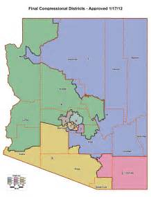 districts map redistricting in arizona ballotpedia