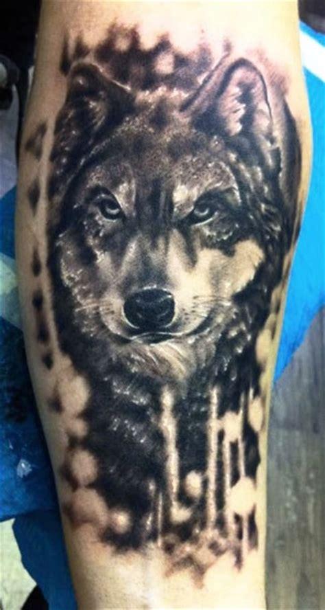 animal tattoo codes black ink wolf animal tattoo on half sleeve tattooshunt com