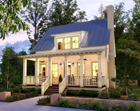 Cute Little Cottage With Triple Window Dormer Exteriors Tiny House Plans With Dormers