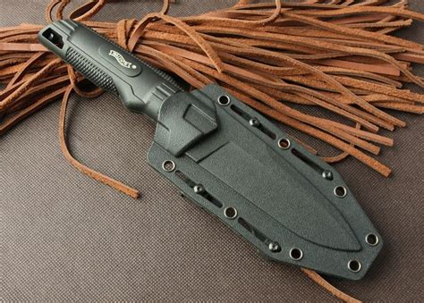 tactical kydex knife sheath tactical knife walther fixed 440c blade knife with kydex