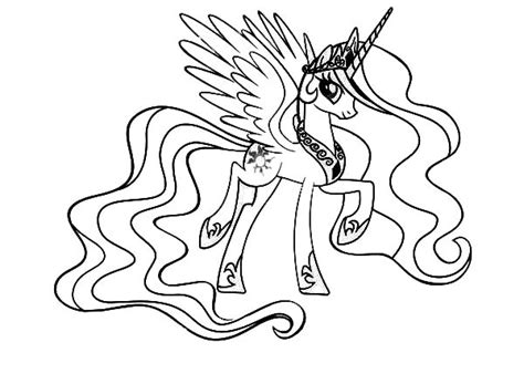 Celestia My Little Pony Colouring Pages sketch template