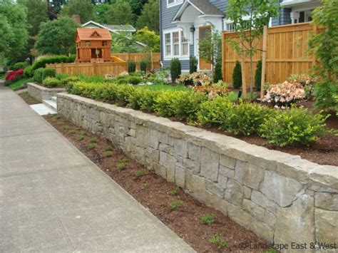 Backyard Landscape On A Budget Retaining Wall Design For Portland Landscaping By Lee