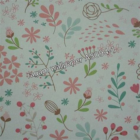 jual wallpaper dinding kamar anak motif flower abstract