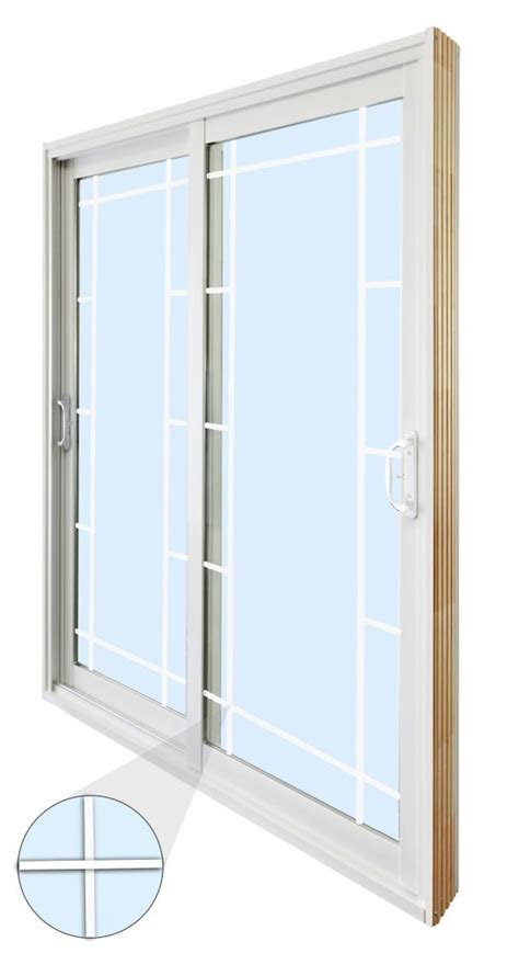 60 Patio Door Stanley Doors 60 Inch X 80 Inch Sliding Patio Door Prairie Style Grill The