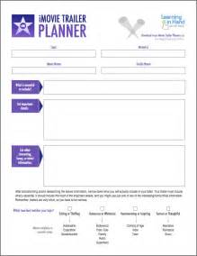 Imovie Trailer Templates by Plan A Better Imovie Trailer With These Pdfs Learning In