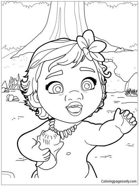 coloring pages moana free baby moana princess coloring page free coloring pages online