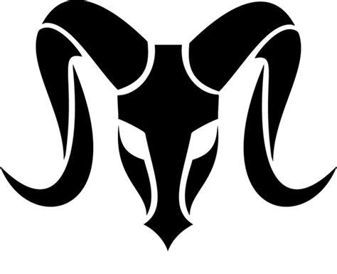 tribal ram stencil design tattoowoo tattoos aries logo on behance graphic design logo design