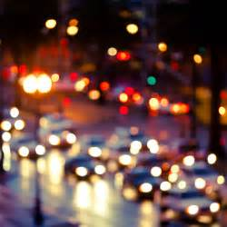 blurred lights blurry with cars wallpaper