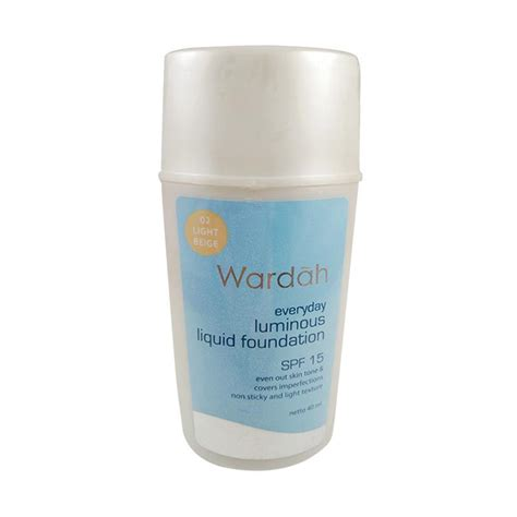 Wardah Liquid Foundation jual wardah everyday luminous liquid foundation light