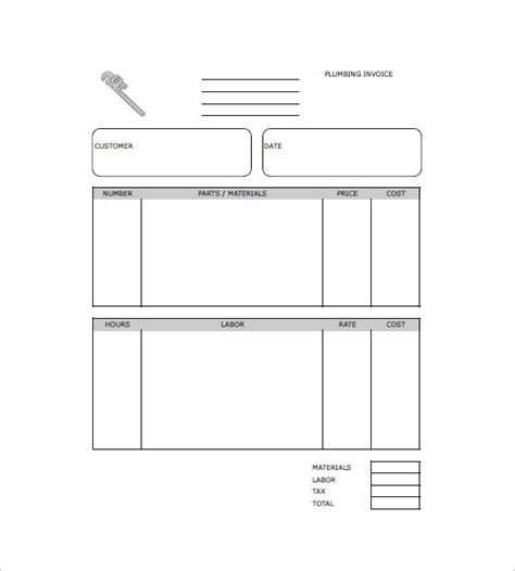 Plumbers Invoice Template by Plumbing Invoice Template 8 Free Sle Exle