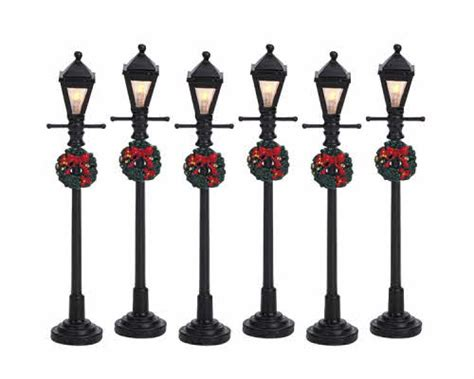 l and lantern village lemax village collection gas lantern street l set of 6