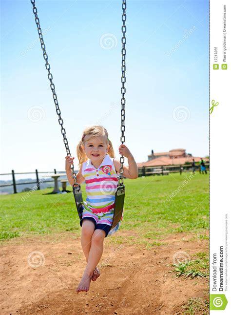 child swing child on swing royalty free stock image image 17217866