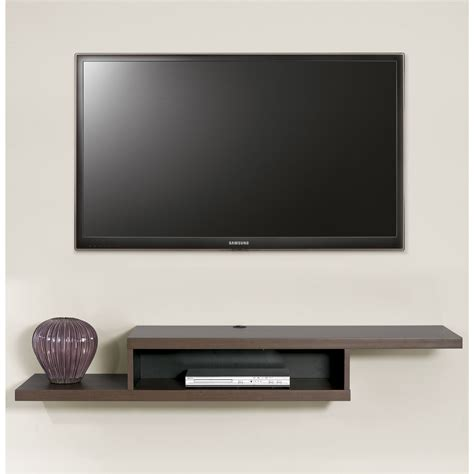 wall tv this wall mounted tv console has a modern flair with the