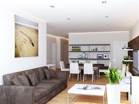 Brown white living room   Interior Design Ideas.