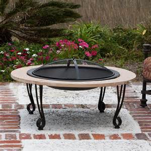 Outdoor Patio Firepit Faux Finish Cast Iron Wood Burning Pit 02115