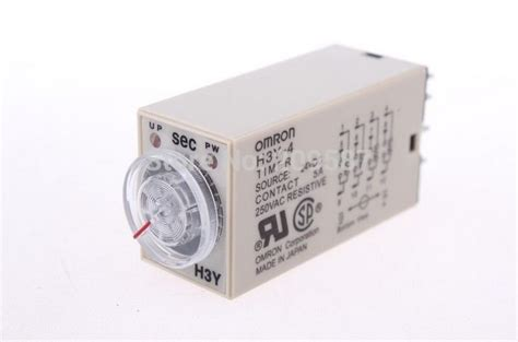Timer H3y 4 C 10 Sec Dc 24v Omron Original h3y 4 h3y 250v 5a 10sec 24vdc 14 pin timer power delay relay in relays from home improvement on
