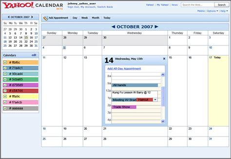 Calendar Yahoo Yahoo Calendar Visual Design Portfolio