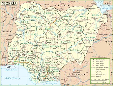 on map nigeria road map