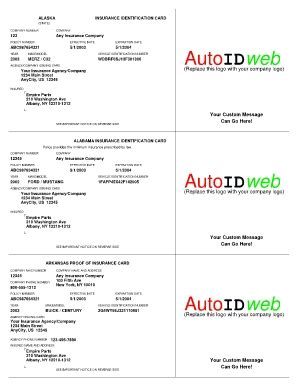 illinois auto insurance card template insurance cards templates resume builder