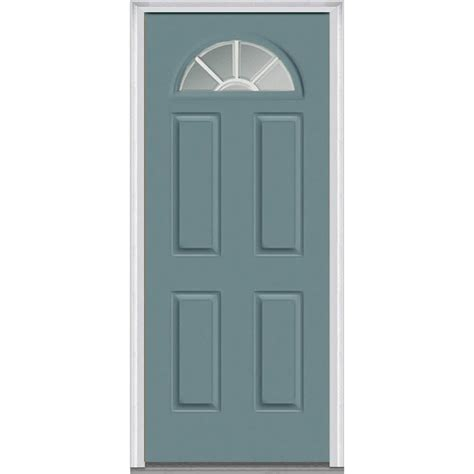 30 X 80 Exterior Door With Window Mmi Door 30 In X 80 In Grilles Between Glass Left 1 4 Lite 4 Panel Classic Painted