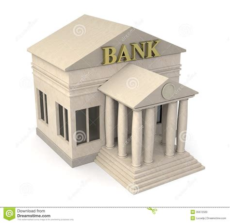 d bank banking bank building stock illustration image of architecture