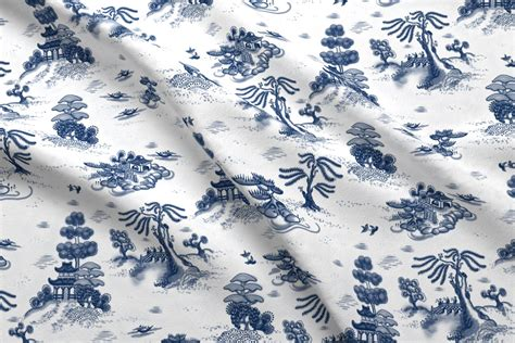 willow pattern wallpaper blue willow toile wallpaper juliamonroe spoonflower
