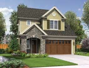 Narrow Lot House Plans Craftsman Cottage Style House Plan 3 Beds 2 5 Baths 1712 Sq Ft