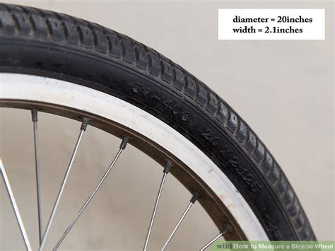ways  measure  bicycle wheel wikihow