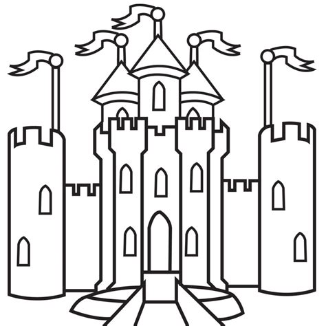 Children S And Adult Coloring Book Gallery Usa Illustrations Castle Coloring Pages