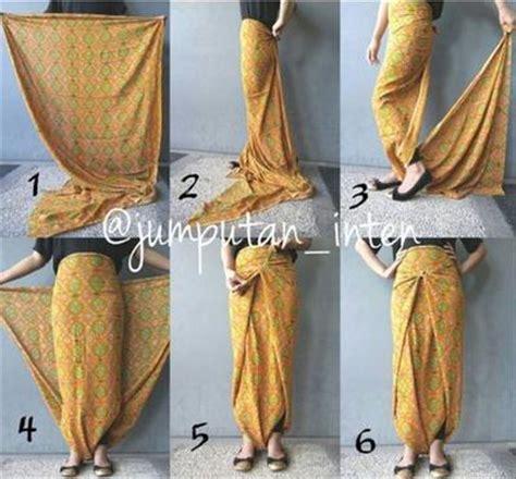 tutorial menggunakan kain batik menjadi rok ini dia tutorial menggunakan rok lilit batik yang praktis