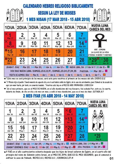 Calendario Fiestas Judias 2018 Calendario Hebreo Religioso 2018