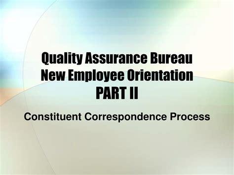 assurance bureau ppt welcome employee powerpoint presentation id