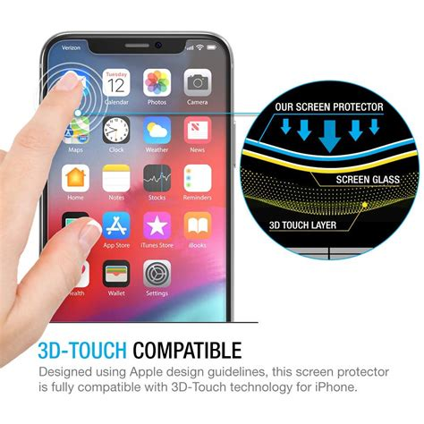 world s thinnest 0 25mm tempered glass screen protector for iphone x xs kusapa