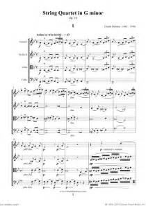 Debussy string quartet in g minor op 10 sheet music