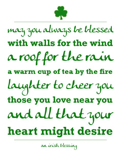 Printable Irish Quotes | irish blessing printables a night owl blog